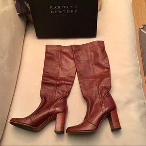 BARNEYS NY Tall Leather Pull-On Boots